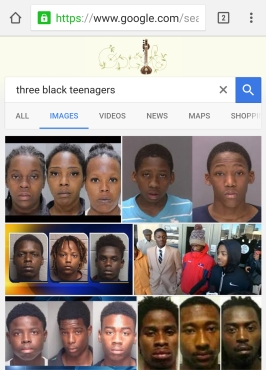 Three black teenagers google search